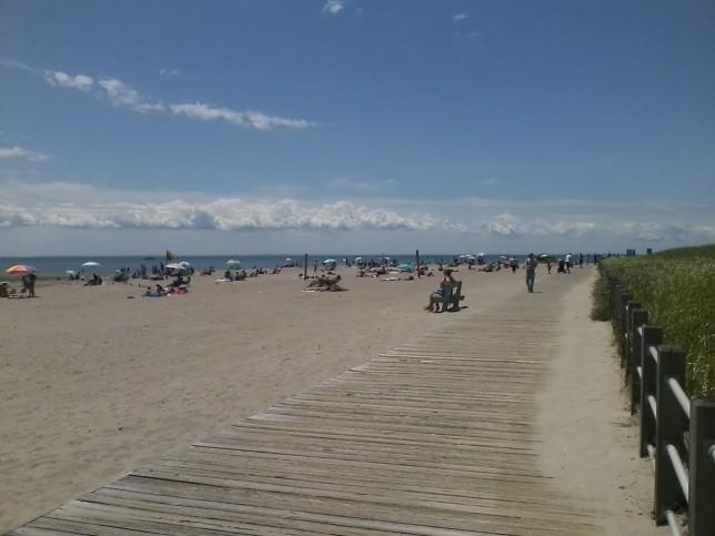 Looking toward Long Island.  All photos taken with a flip phone