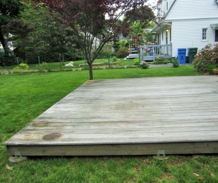 boring deck - before cleaning, sealing and operation overhaul