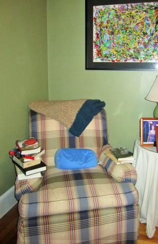 corner of my room where I read