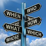 who-what-why-when-where-signpost-10088170